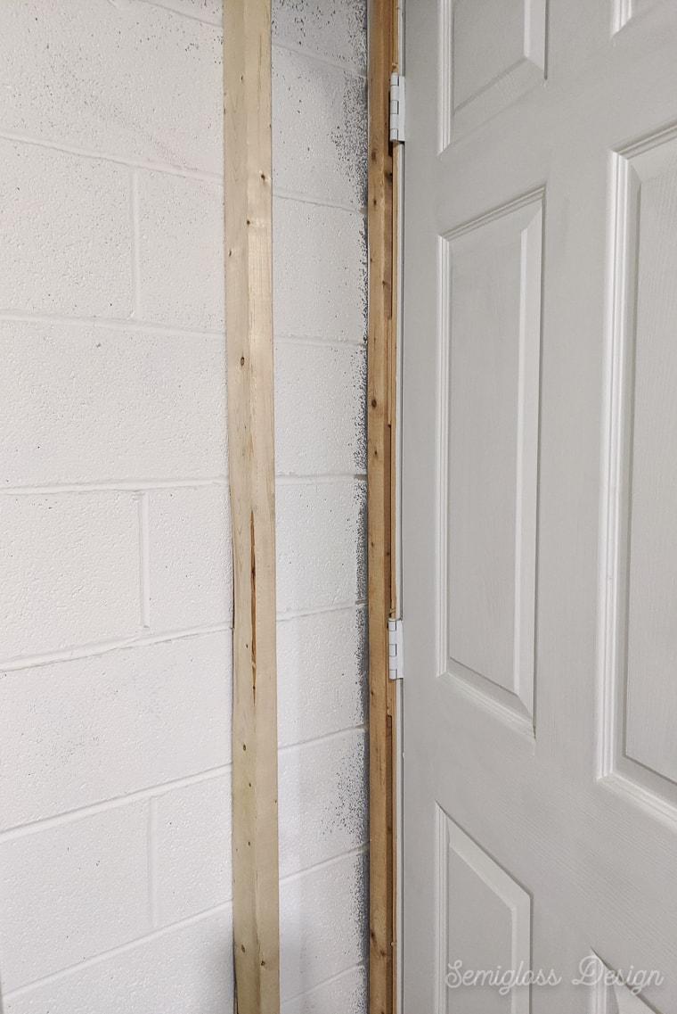 door placement requiring 2x3s for shallow walls