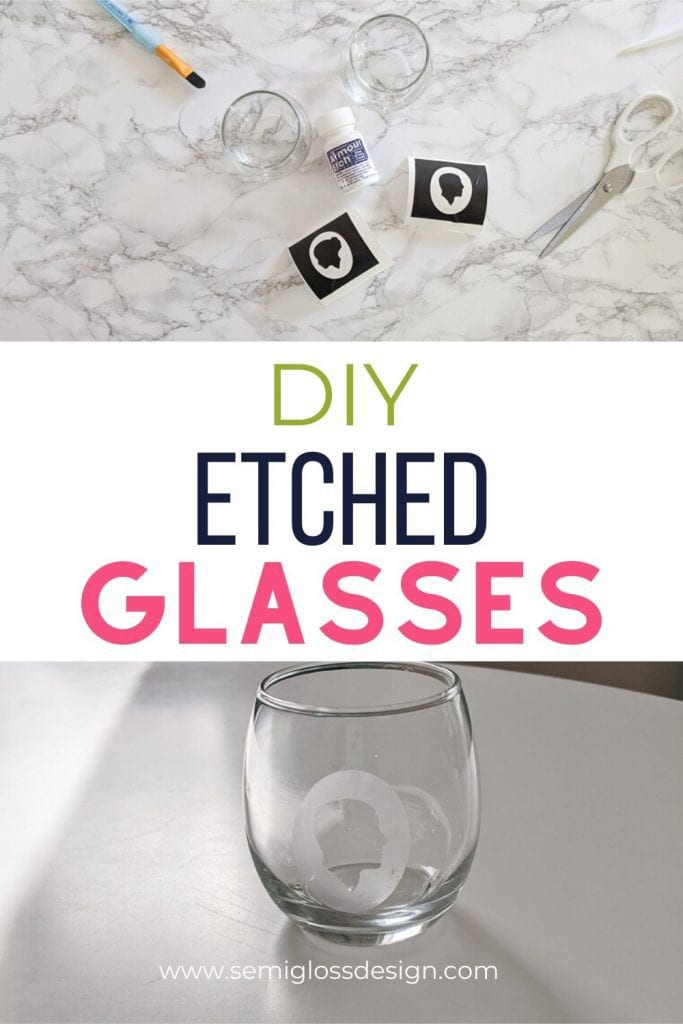diy etched glasses