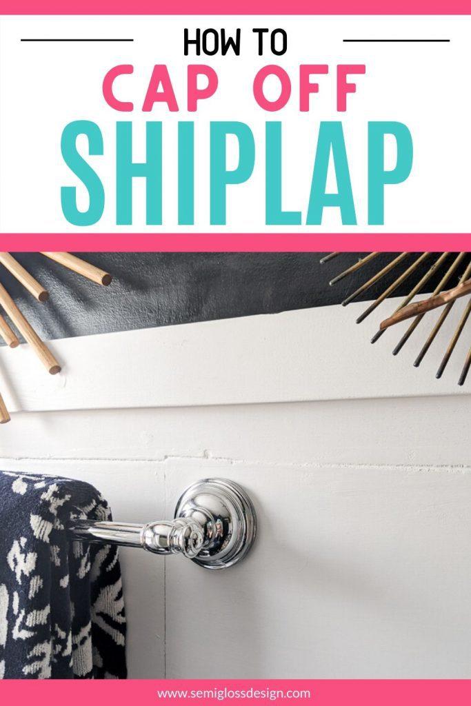 shiplap trim collage