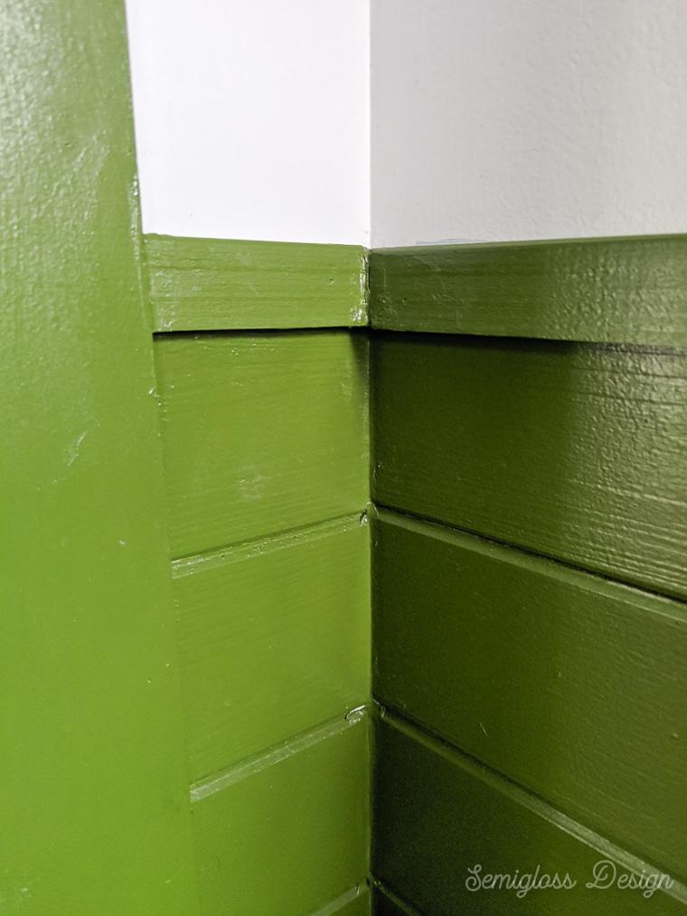 inside corner of shiplap