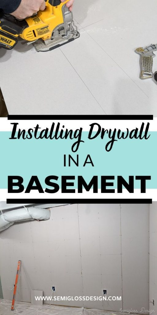 basement drywall collage