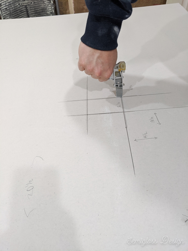 cutting electrical box hole from drywall