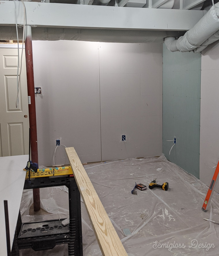 Installing Basement Drywall, How To Hang Drywall In The Basement