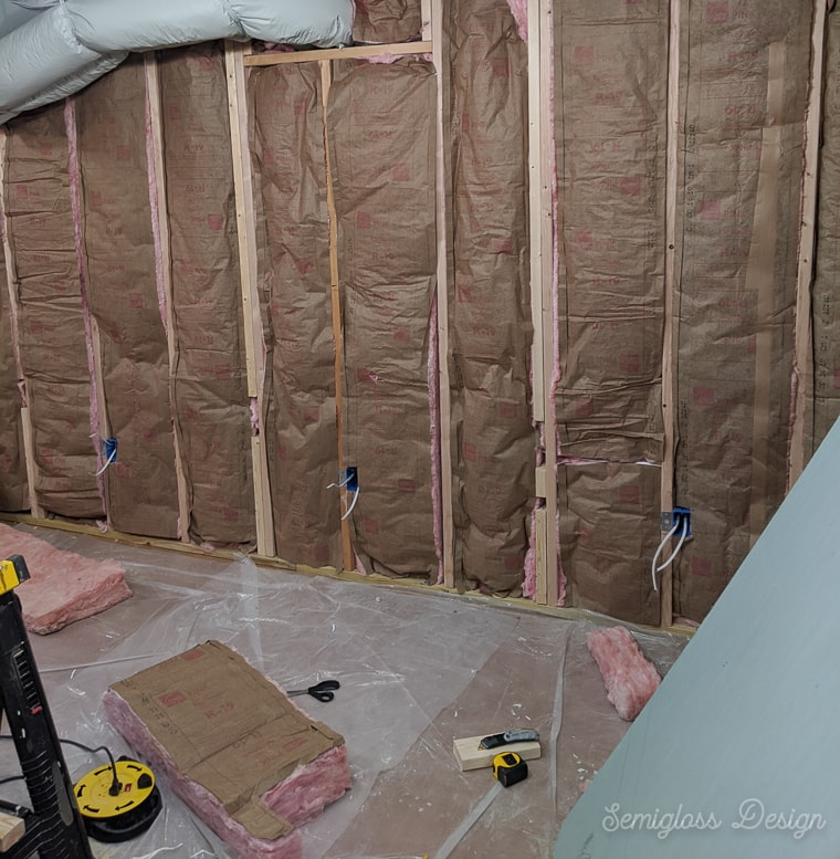 finished insulated walls in basement