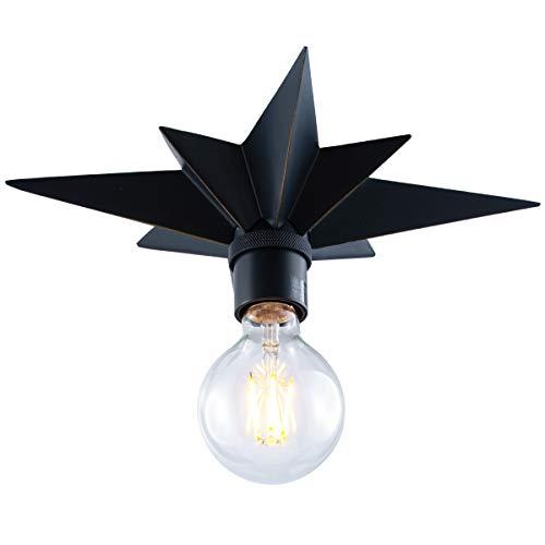 Flush Mount Ceiling Light, Black Star Light Fixtures Ceiling
