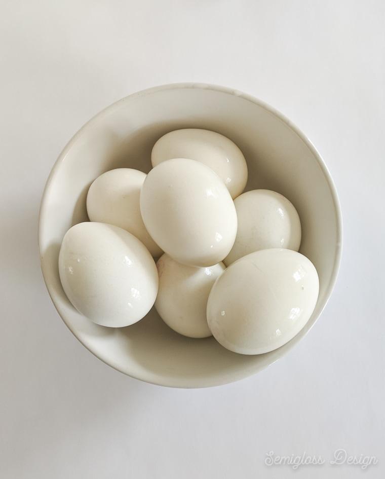 bowl of hard boiled eggs