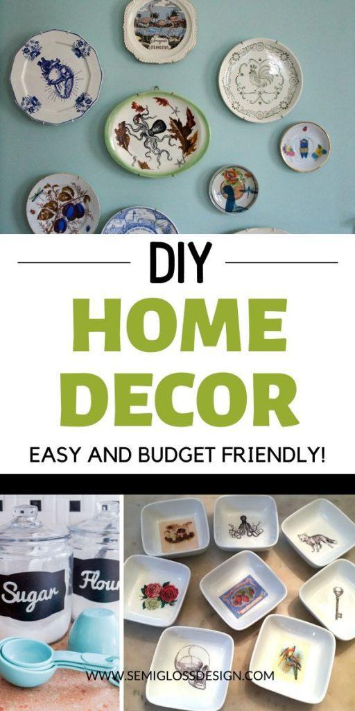 DIY Home Decor Ideas collage