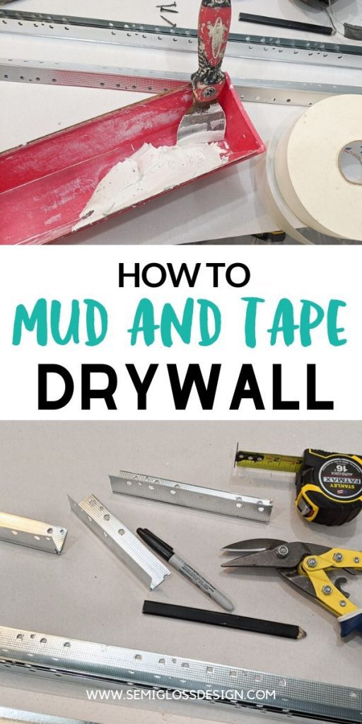 mud and tape drywall collage