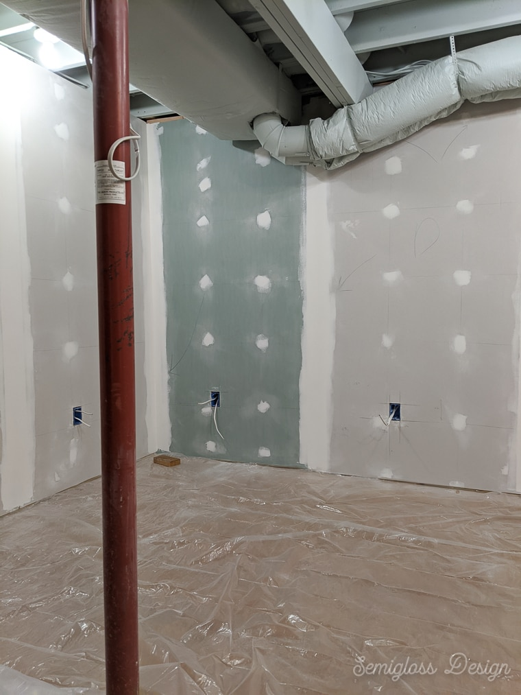 finished drywall in basement