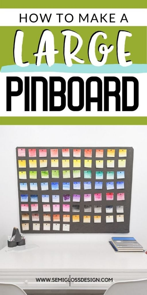 large DIY pinboard collage
