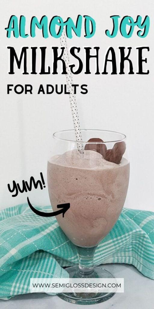 pin image almond joy milkshake