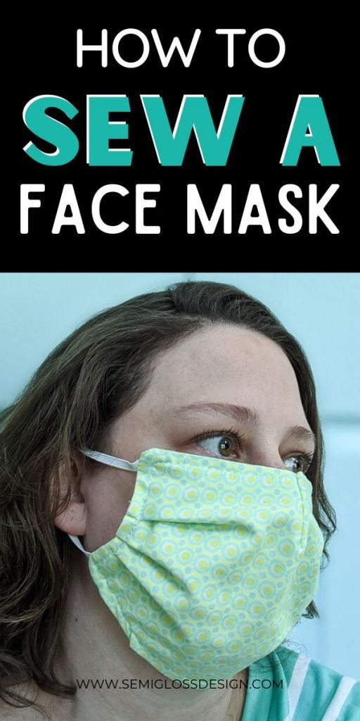 woman in fabric face mask