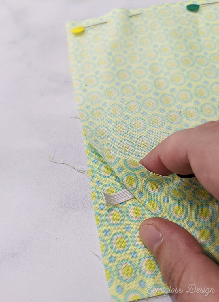 fabric with elastic in between
