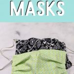 pin image- pleated face masks