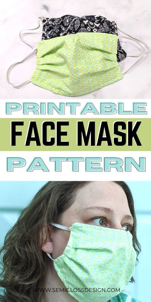 face mask pattern collage
