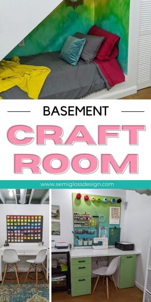 pin image basement craft room collage