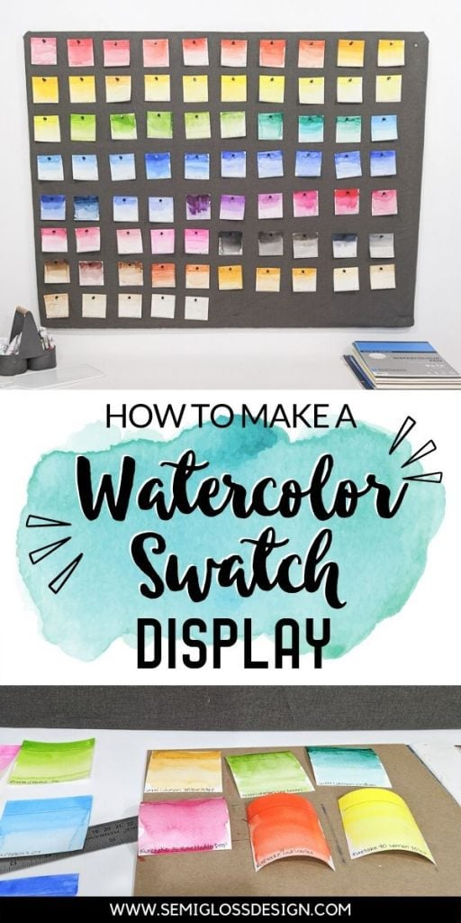 watercolor swatch display