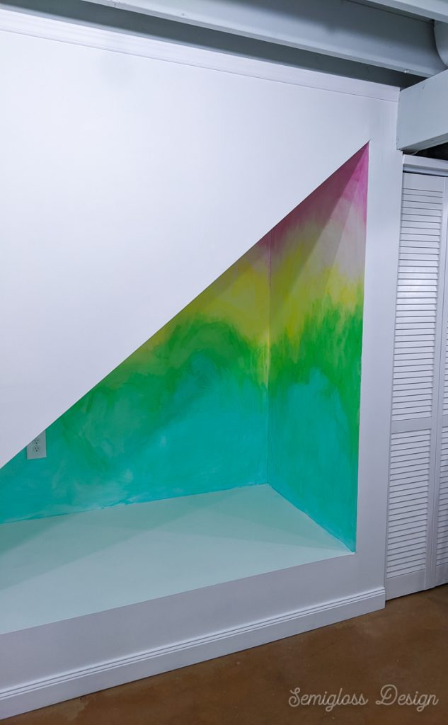 lazure painting in space under stairs
