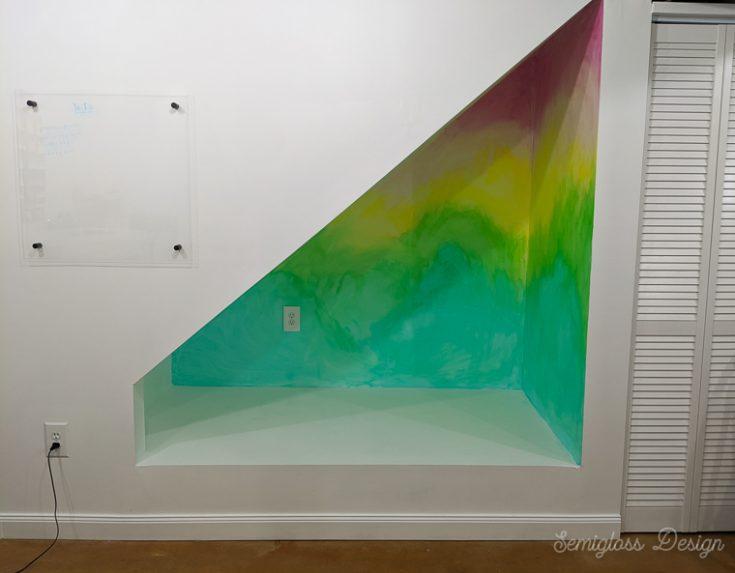 rainbow lazure painting