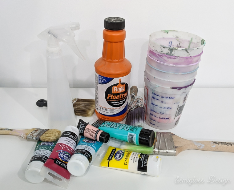 supplies for lazure painting