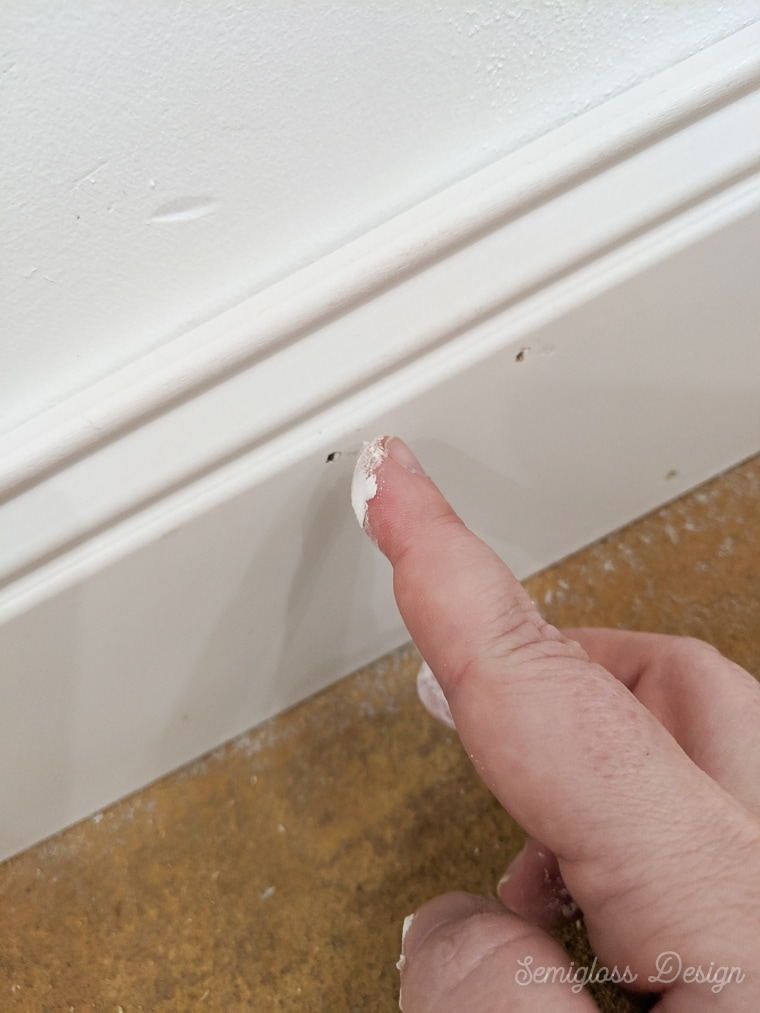 fill holes with spackle