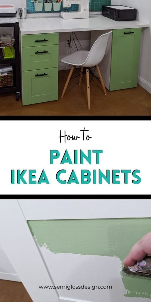 pin image - paint ikea cabinets collage
