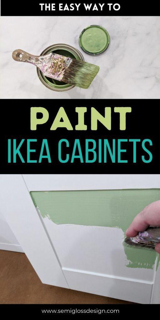 pin image - paint ikea cabinets