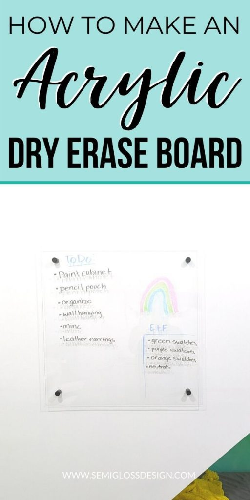 pin image - acrylic dry erase board