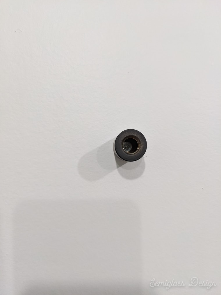mounting hardware installed on wall