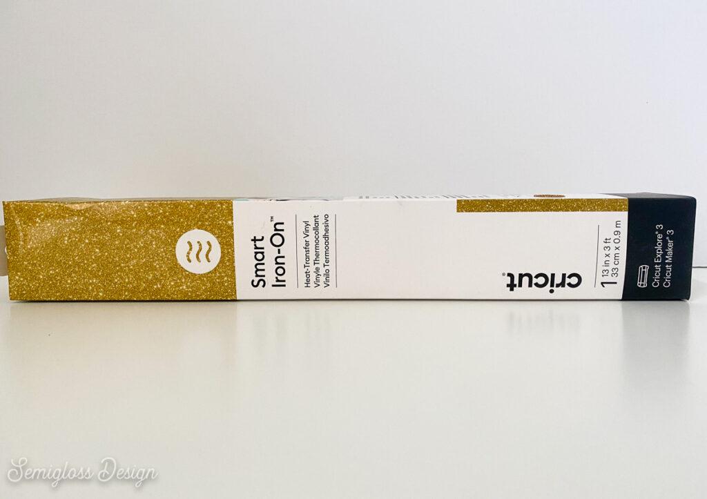 gold glitter Cricut smart iron-on vinyl