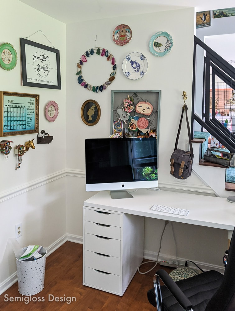 before photo of office nook