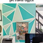 pin image - home office geometric mural