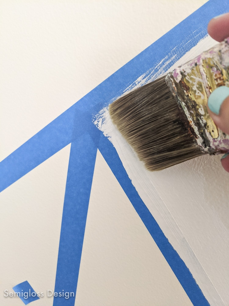 sealing edges of tape with paint