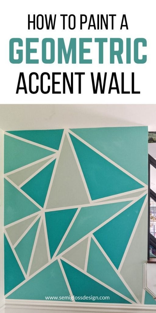 pin image - teal triangle accent wall
