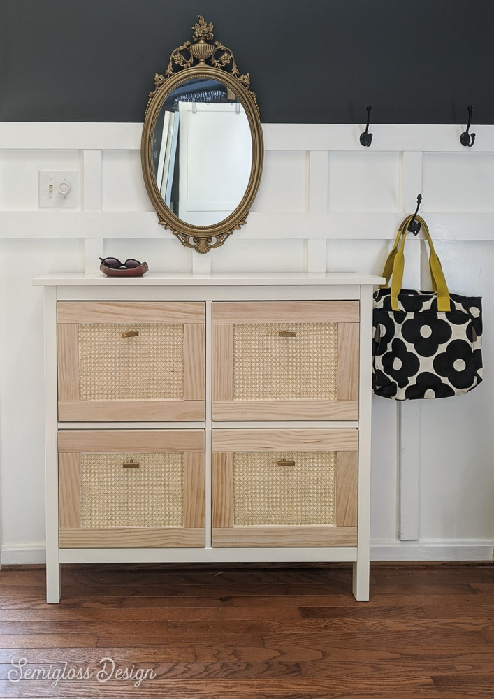 ikea hemnes cabinet with wicker cane panels