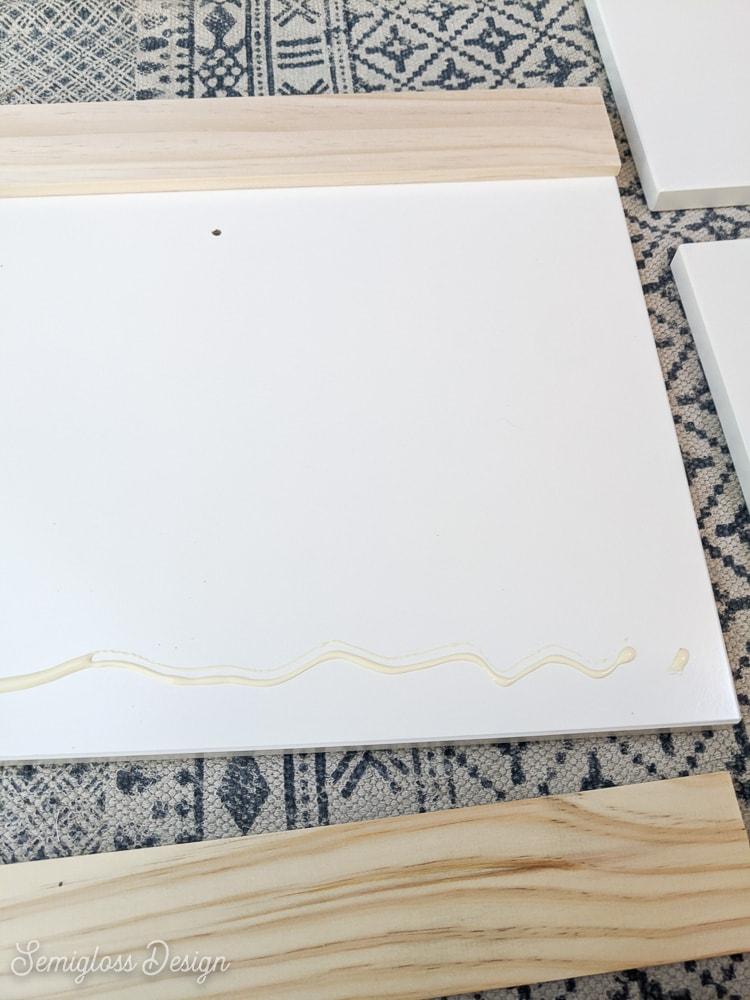 adding glue to hemnes drawer panel