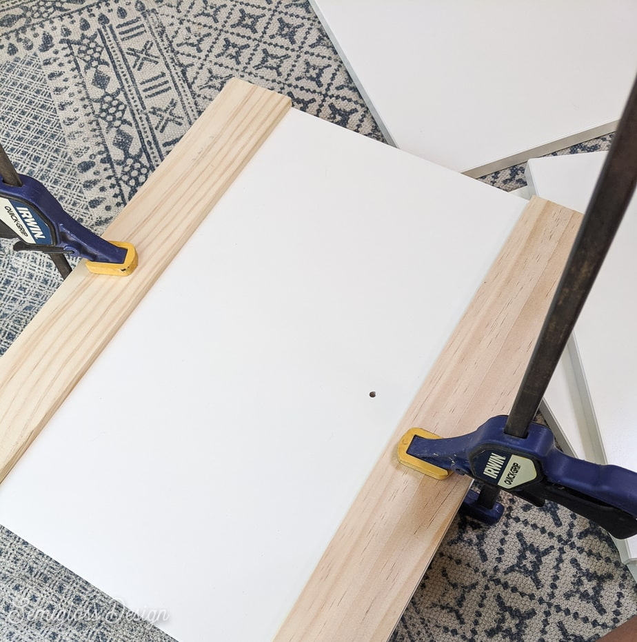 clamping wood to drawer panel
