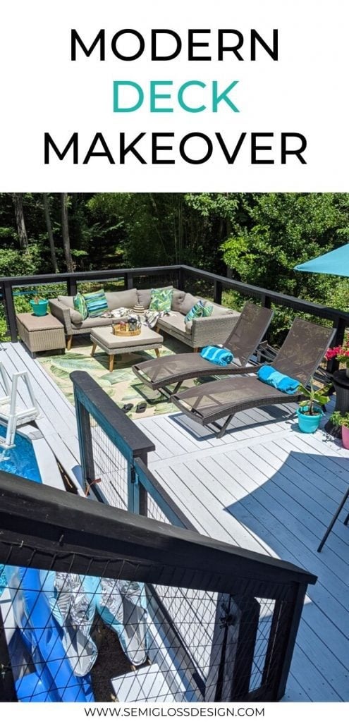 pin image - gray deck with modern patio furniture