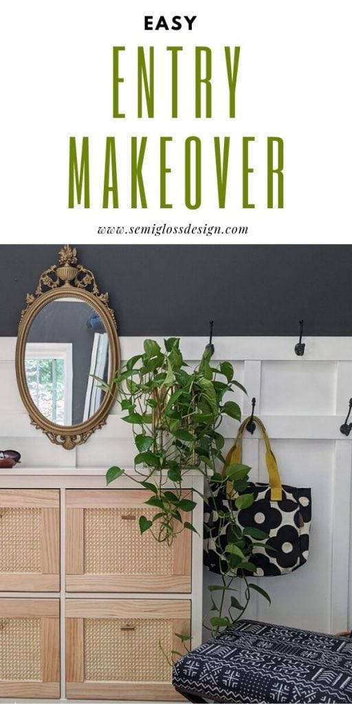 pin image - entryway makeover