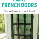 pin image- partially painted french door