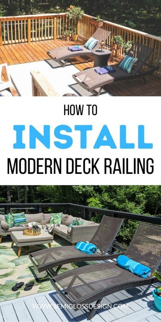 pin image - deck railing makeover before and after