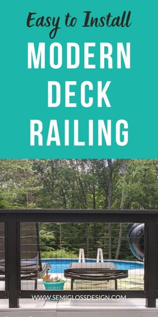pin image - modern deck railing