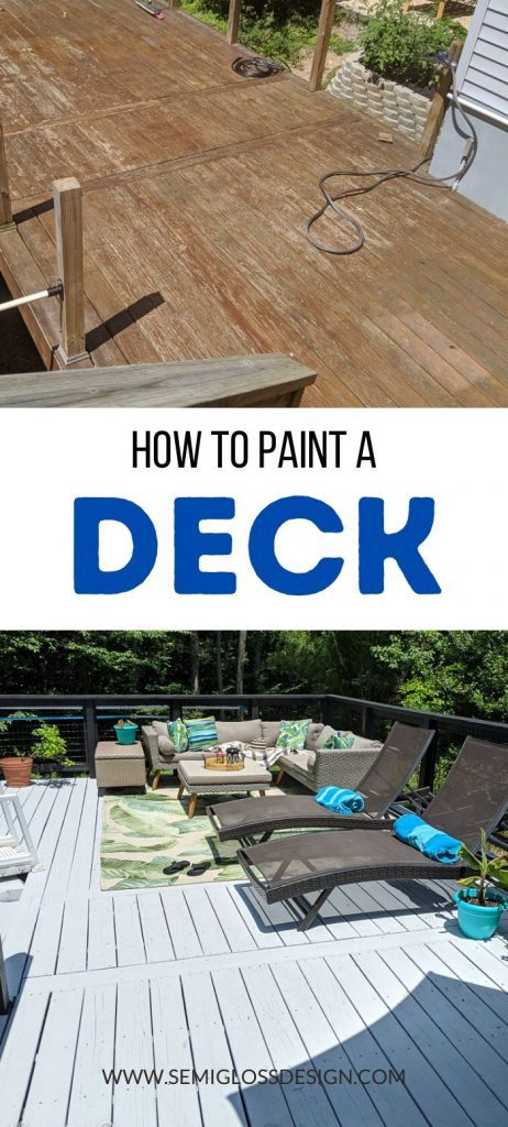pin image - painted deck collage