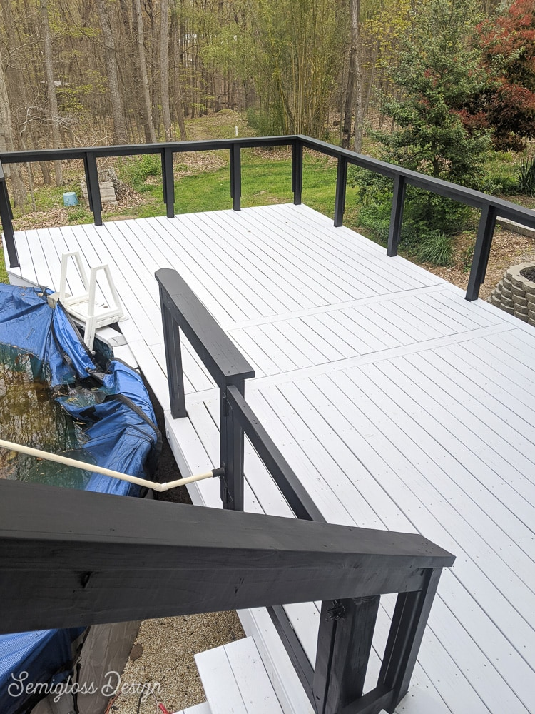 finished painted deck
