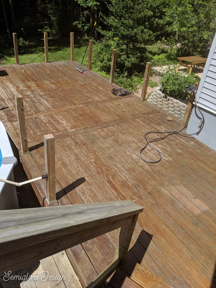 deck before powerwashing