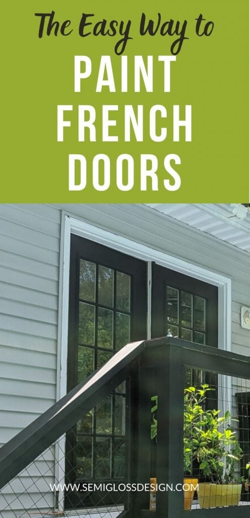 pin image - painted French doors on patio