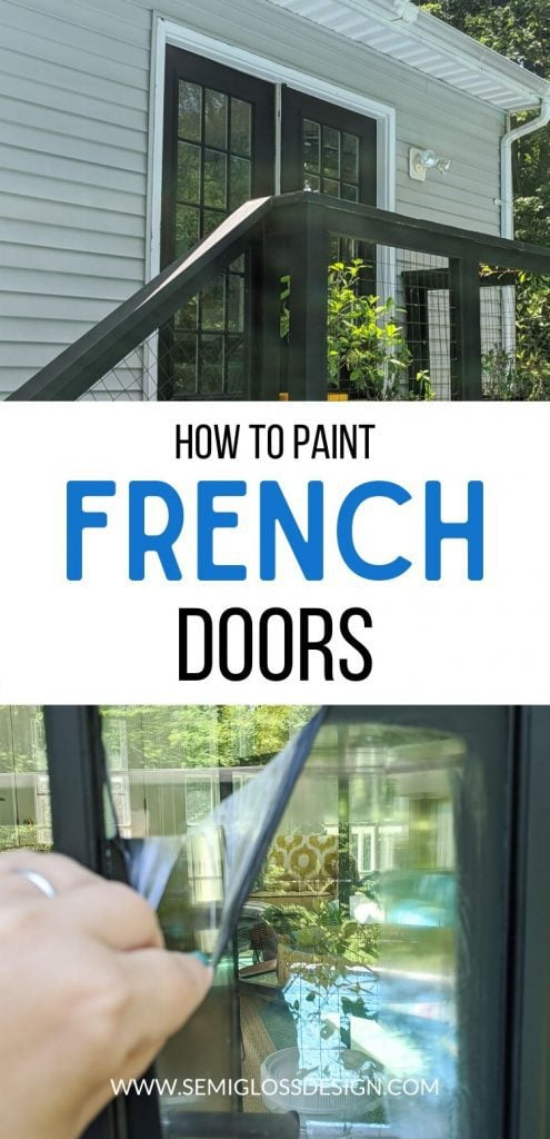 pin image - painting French doors collage