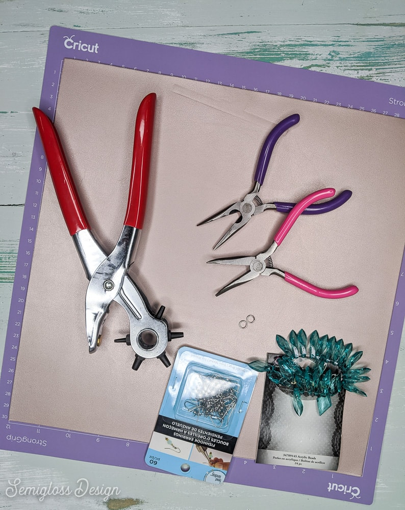 supplies for making leather earrings