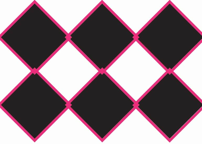 illustration of taping a checkerboard pattern