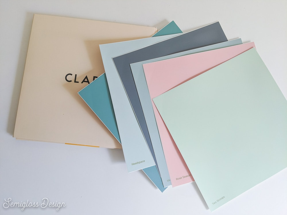 clare paint swatches